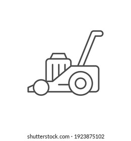 Lawn mower line outline icon