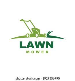 Lawn Mower Logo. Lawn Mowing Logo