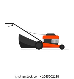 Lawn mower machine icon. Gardening clipart isolated on white background