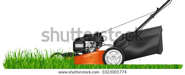 Lawn Mower Mowed Grass Lawn Mower Stock Vector Royalty Free 1023001774