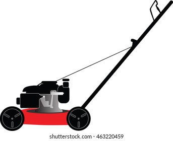 lawn mower on a white background vector illustration