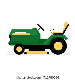 lawn mower riding icon. Gardening clipart isolated on white background