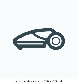 Lawn mower robot icon, trimmer robot vector icon