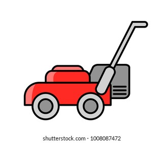 Lawn mower. Simple colored illustration.