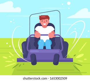Lawn mower Vector. Cartoon. Isolated art