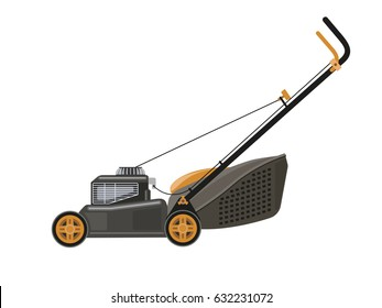 Lawn mower, vector illustration on white background