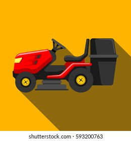 lawn tractor icon isolated on background. Modern flat pictogram, business, marketing, internet concept. Trendy Simple vector symbol for web site design or button to mobile app. Logo illustration