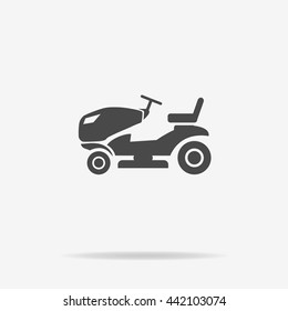 Lawn tractor icon. Vector concept illustration for design.