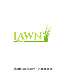 lawn vector logo design illustration