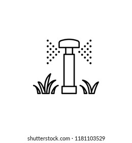 lawn watering icon. Element of drip watering icon for mobile concept and web apps. Thin line lawn watering icon can be used for web and mobile