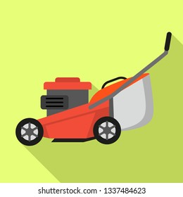 Lawnmower icon. Flat illustration of lawnmower vector icon for web design