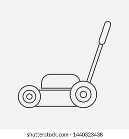 Lawnmower icon. Garden symbol modern simple vector icon