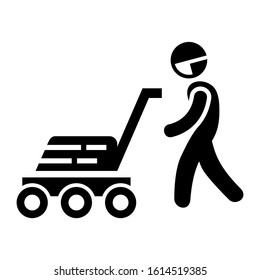 lawnmower icon isolated sign symbol vector illustration - high quality black style vector icons