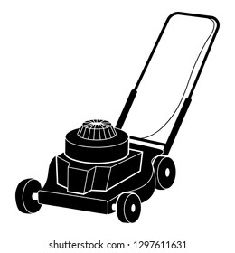 Lawnmower icon. Simple illustration of lawnmower vector icon for web design isolated on white background