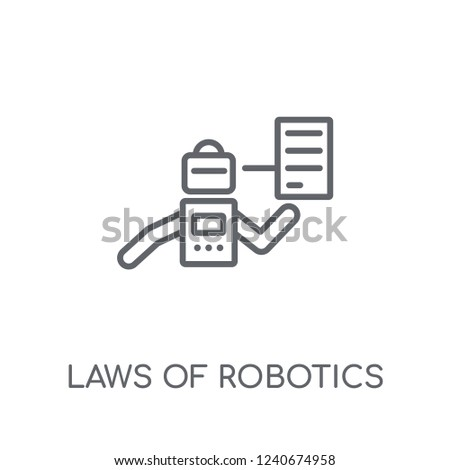 Laws Robotics Linear Icon Modern Outline Stock Vector Royalty Free