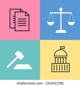 Lawyer, advocate man or jurist concept. Lawyer flat vector illustration