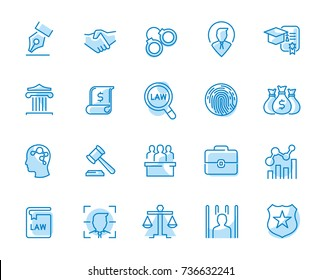 Lawyer and business vector icon set.