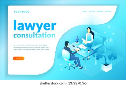 Lawyer consultation concept illustration. office worker. jurist