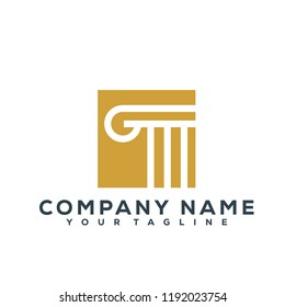 Lawyer Law Firm Attorney Creative Logo Modern Simple Vector Editable Template Luxury
