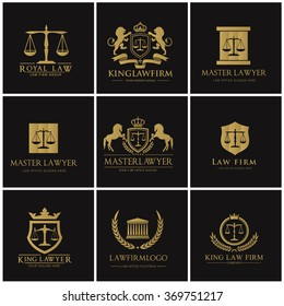 Lawyer and Law Firm Logo Set