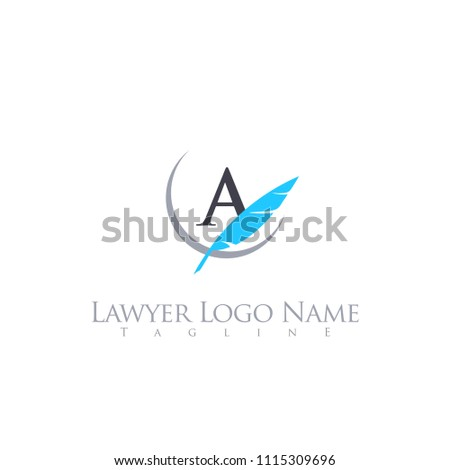 lawyer letter logo template