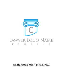 lawyer logo letter template