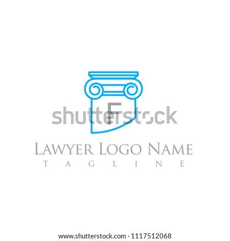 lawyer logo letter template column