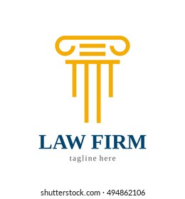 LAWYER OFFICER LAW FIRM JUDGE LOGO ICON SYMBOL EMBLEM TEMPLATE
