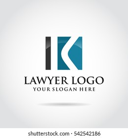 Lawyer template logo design. Abstract letter K concept.