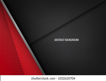 Layer geometric overlap dimension abstract black background red colorful wallpaper