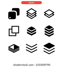 layer icon isolated sign symbol vector illustration - Collection of high quality black style vector icons