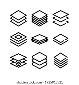 layer icon or logo isolated sign symbol vector illustration - Collection of high quality black style vector icons