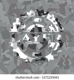 Layer on grey camo texture