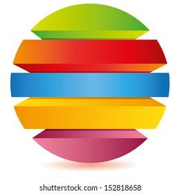 layered circle diagram, procedure diagram for business template