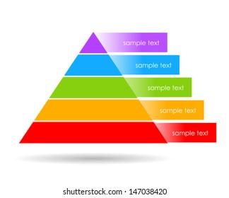 Layered pyramid vector illustration