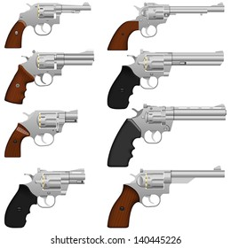 Layered vector illustration of collected Revolver.