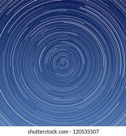 Layered vector illustration of Star Trail with long exposure effect.