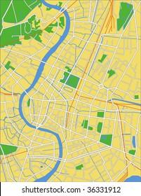 layered vector map of Bangkok.