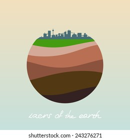Soil layers images stock photos vectors shutterstock layers of the earth vector flat icon ccuart Gallery