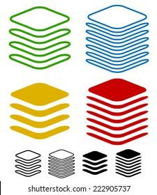 Layers, stack symbols