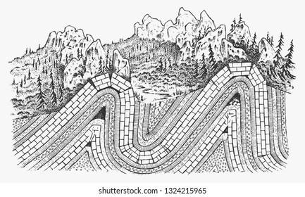Structure Of A Volcano Stock Illustrations Images Vectors