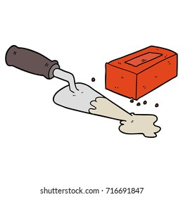 laying bricks cartoon