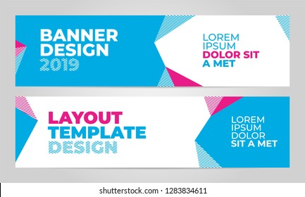 Layout banner template design for winter sport event, tournament or championship. 2019 trend.