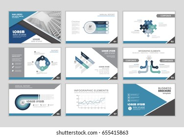 layout brochure design, brochure template for business presentation, brochure annual report, flyer and leaflet cover with Infographic brochure elements for business data visualization.