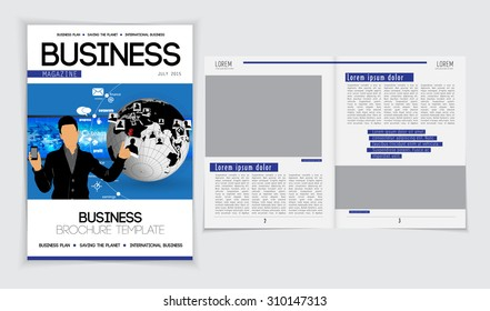 Layout brochure, vector