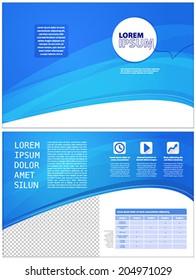 layout corporate blue modern