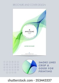 Layout cover design, brochure, magazine, flyer, booklet or report in A4. Vector Illustration