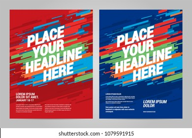 Layout design Sports invitation template. Can be adapt to Brochure, Annual Report, Magazine, Poster.