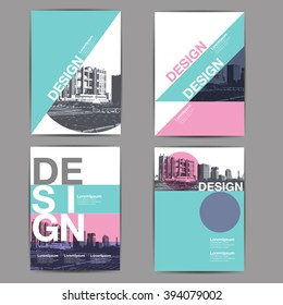 layout design, template, annual report, abstract background
