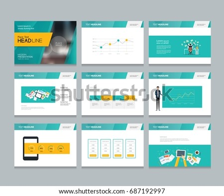 layout design template for business presentation brochure page and annual report page with cover